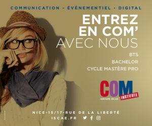 Com Institute : école de communication à Nice