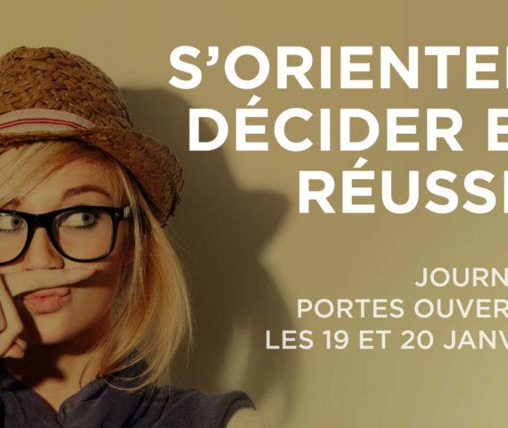 JOURNÉES PORTES OUVERTES LES 19 ET 20 JANVIER