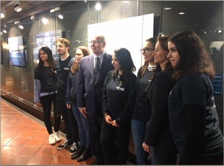 SAS Albert II de Monaco et Ségolène ROYAL avec nos étudiants - Monaco Ocean Week