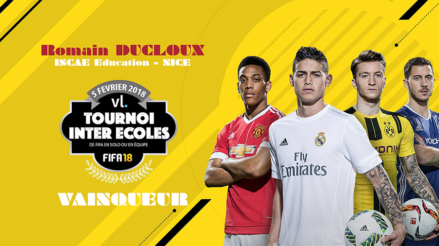 le vainqueur du tournoi FIFA 2018 inter-écoles et 8ème du Championnat de France est étudiant à l'ISCAE